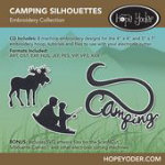 Camping Silhouettes Embroidery CD