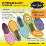 Espadrille Fabric Couture Hope Yoder CD