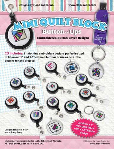 Mini Quilt Block Button Ups - HY8204