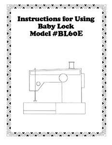 Instruct Bk Babylock BL60E