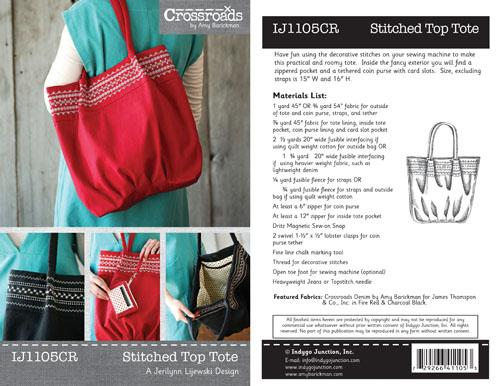 Crossroads Stitch Top Tote