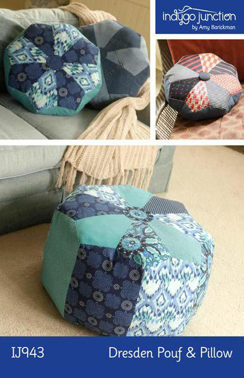 Dresden Pouf Pillow pattern