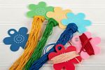 Floss Flower Thread Bobbins and Sticker Set