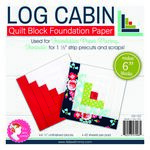 6 in Log Cabin Quilt Block Foundation Paper