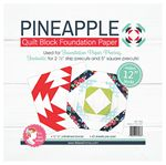 Pineapple 12 Quilt Block Foundation Paper Pad - It's Sew Emma - ISE-765