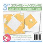 Square in a Square Block 3 in  Foundation Paper