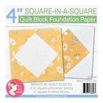 Square in a Square 4 Block Foundation Paper