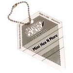 Mini Hex N More Keychain Ruler
