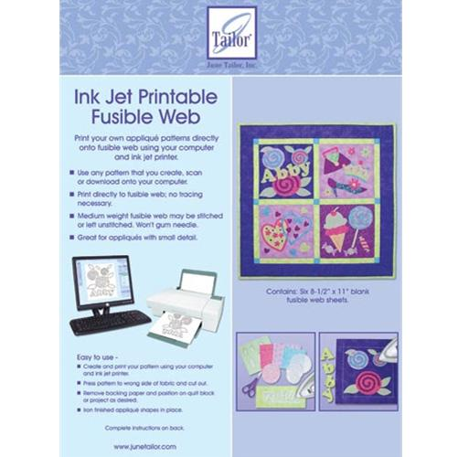 JUNE TAYLOR INKJET PRINTABLE FUSIBLE WEB