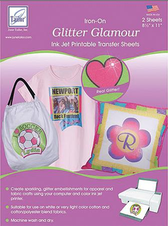 Glitter Transfer Sheets 2/pkg Inkjet Printable Glitter Transfer Sheets 2/pkg