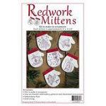 Redwork Mittens Ornament Kit