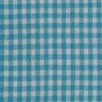 Tea Towel Mini Check Turquoise/White