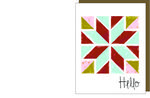 Barn Quilt Hello Gift Card