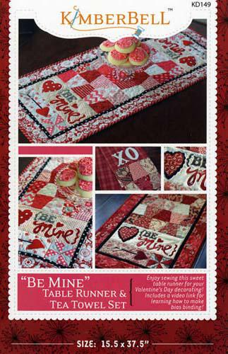 Be Mine: Table Runner & Tea Towel Set Pattern