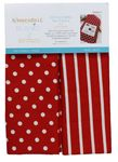 KB Dots & Stripes Tea Towel Red