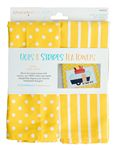 Kimberbell - Dots & Stripes Tea Towels - Lemon