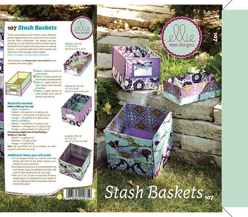 Stash Baskets Pattern