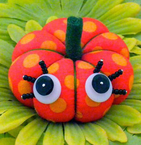 Winky Pumpkin Pincushion