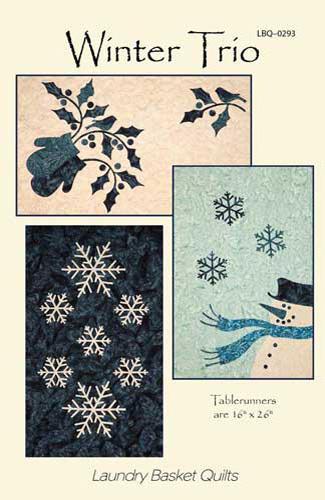 Winter Trio Pattern by Laundry Basket - 16 X 24