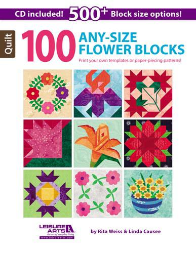 100 Any-Size Flower Blocks