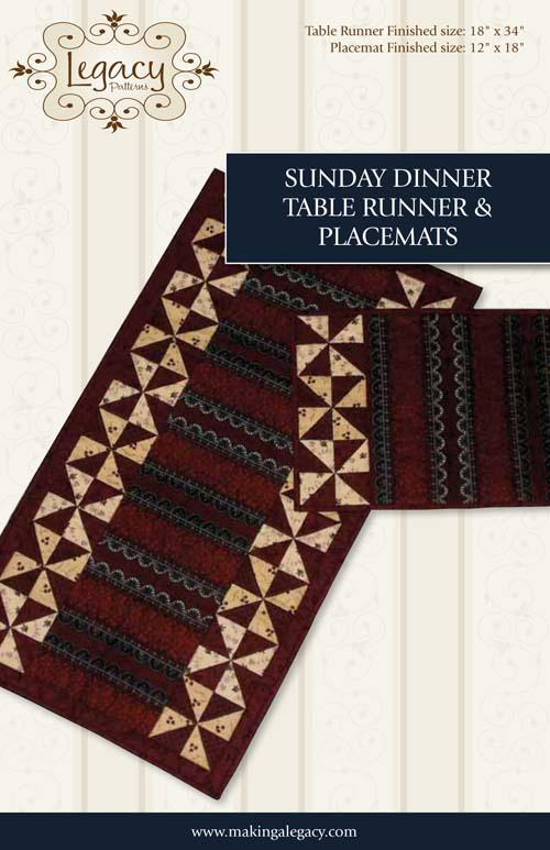 Sunday Dinner TableRunner and Placemat Pattern by Legacy