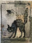 Black Cat Collage Pattern
