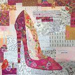 Laura Heine Pink Pump Collage Pattern