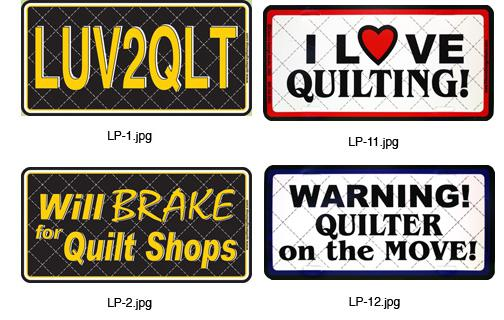 I Love Quilting License Plate