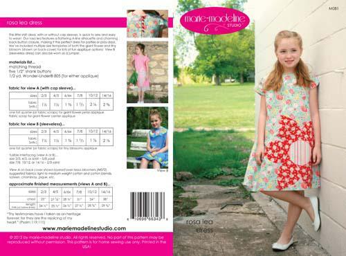 Rosalea Shift Dress Pattern by Marie-Madeline Studios