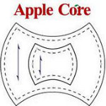 Marti Michell - Apple Core Ruler Nested Template 2 Pieces