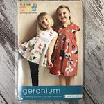 Geranium Dress Pattern sz 0-5T