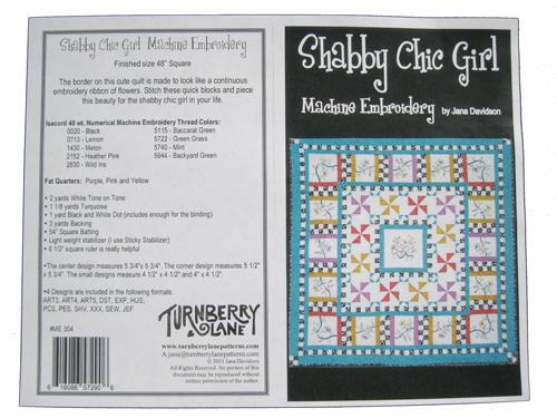 Shabby Chic Girl Machine Embroidery^