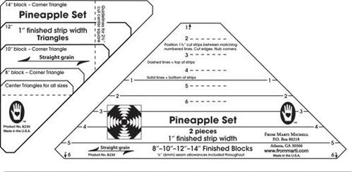 Pineapple Ruler 1.25 by Marti Michell