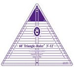 60 Degree Triangle Ruler 3-12