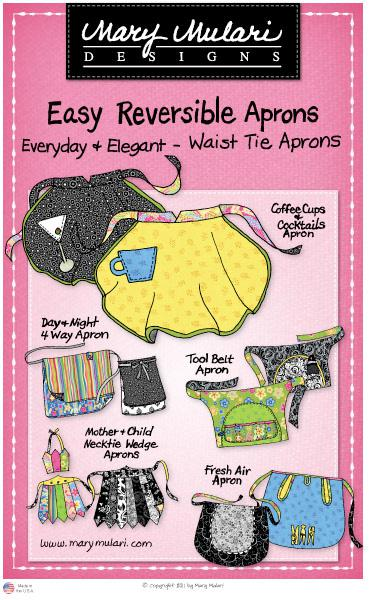 Easy Reversible Aprons - Waist Tie