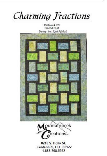 Charming Fractions Quilt Pattern by Mountainpeek Creations