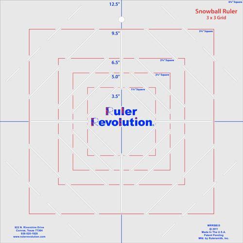 Ruler Revolution 3 x 3 Snowball Ruler