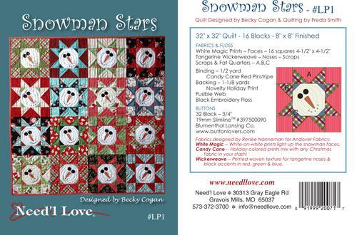 Snowman Stars Little Pattern by Need'l Love