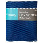 mesh fabric pkg 36 x 50 royal blue