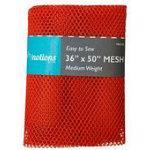 Mesh Fabric, Medium Weight, 36 x 50 Orange