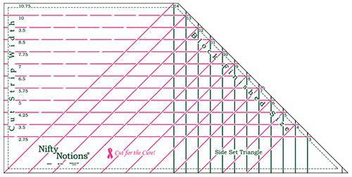NN Side Set Triangle Ruler