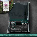 OESD Black Garden Flag 2pk