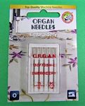 Needle Organ Embroidery Assorted Carded/5 Needles