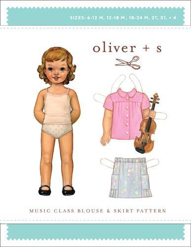 Music Class Blouse+Skirt 6m-4 Oliver + S:Sketchbook Shirt+Shorts Pattern 6M-4