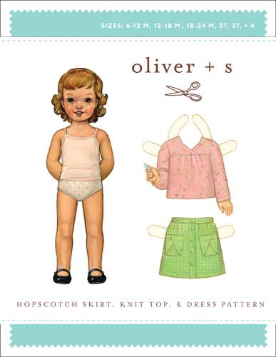 Hopscotch skirt,top,dress 6m-4 Oliver + S:Hopscotch Skirt, Top+Dress Ptn (6 m-4)