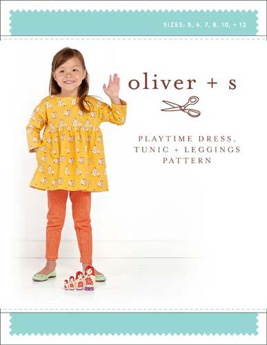 Oliver + S Playtime Dress. Tunic, & Leggings sz 5-12