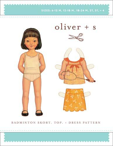 Oliver + S Badminton Skort, Top  6m-4