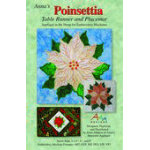 ANNA'S AWESOME POINSETTIA TABLE RUNNER & PLACEMAT