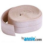 Fold-over Elastic - 7/8in - Natural