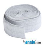 Fold-over Elastic - 7/8in - Pewter